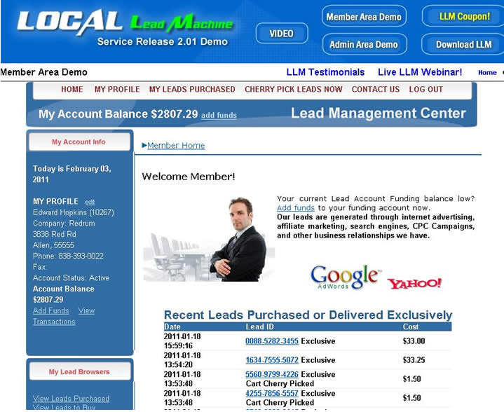 Click to view Local Lead Machine 1.9 screenshot